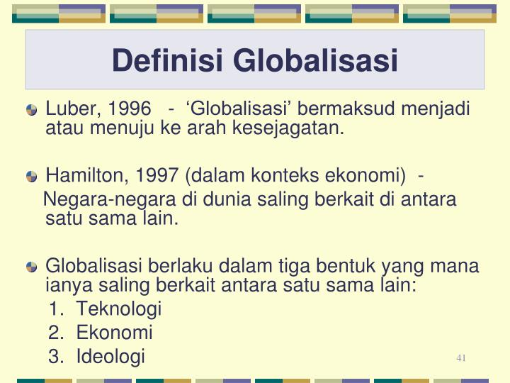 Definisi Globalisasi