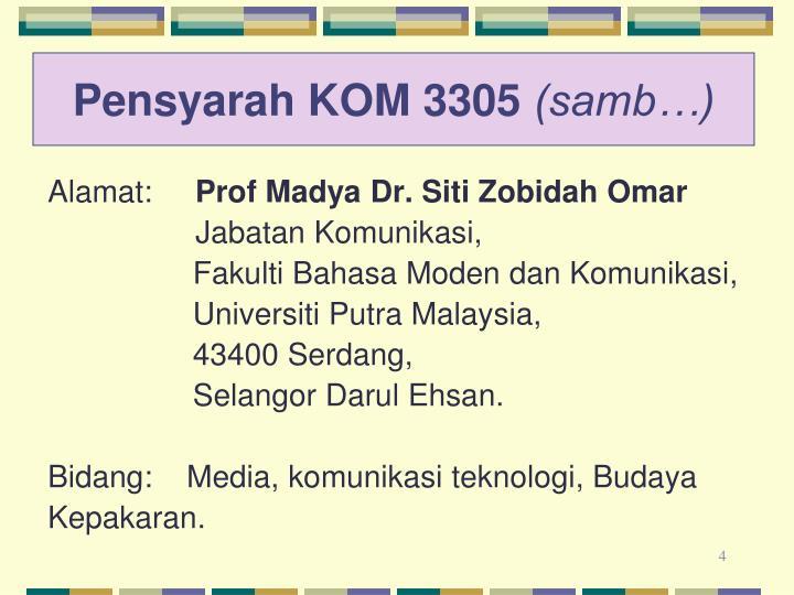 Pensyarah KOM 3305