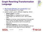 graph rewriting transformation language4