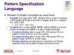 pattern specification language