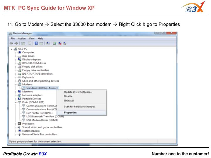 MTK  PC Sync Guide for Window XP