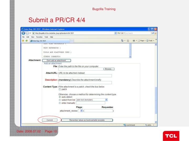Submit a PR/CR 4/4