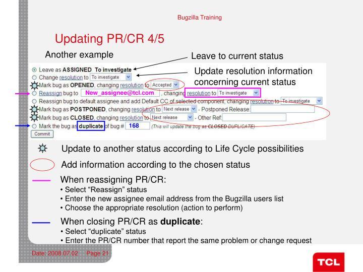 Updating PR/CR 4/5
