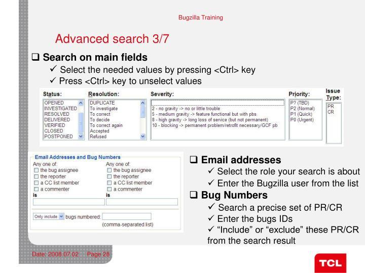 Advanced search 3/7