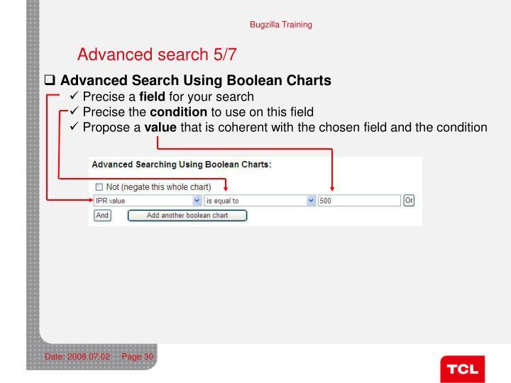 Advanced search 5/7