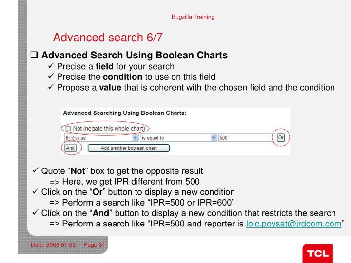Advanced search 6/7