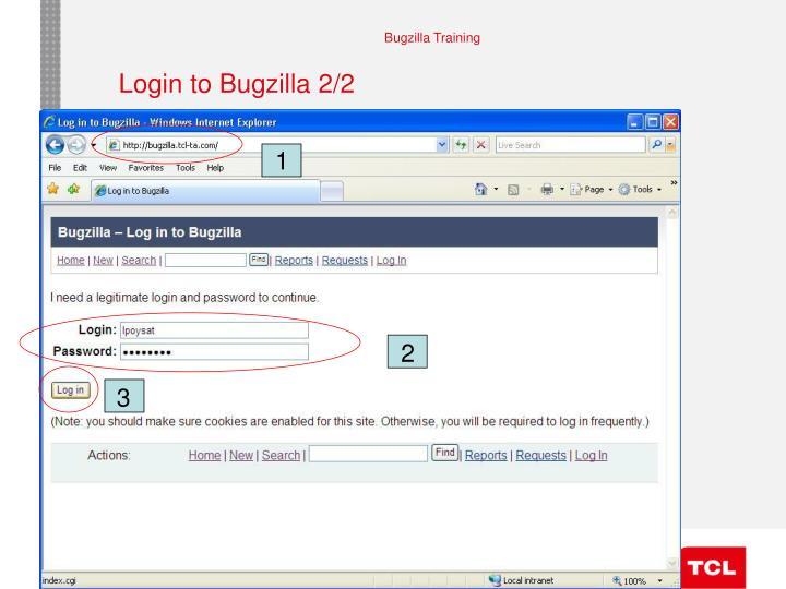 Login to Bugzilla 2/2