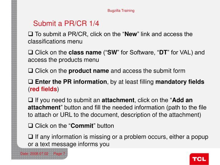 Submit a PR/CR 1/4