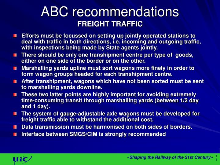 ABC recommendations