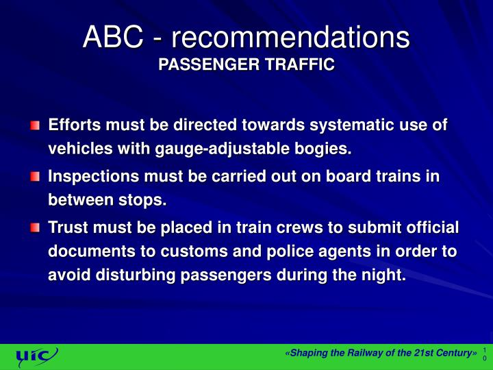ABC - recommendations