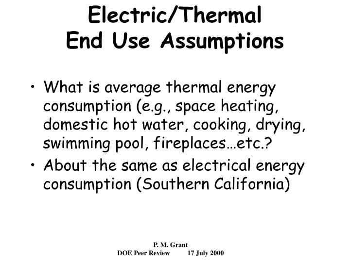 Electric/Thermal