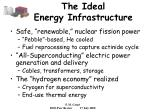 the ideal energy infrastructure
