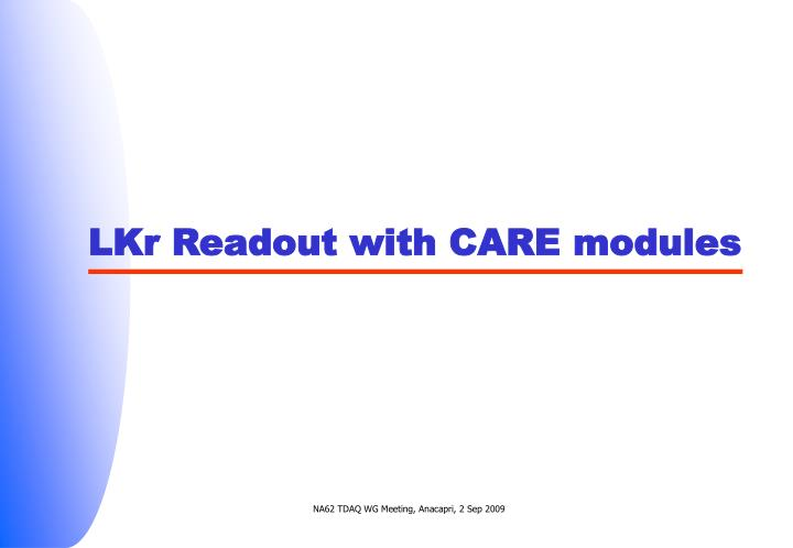 LKr Readout with CARE modules