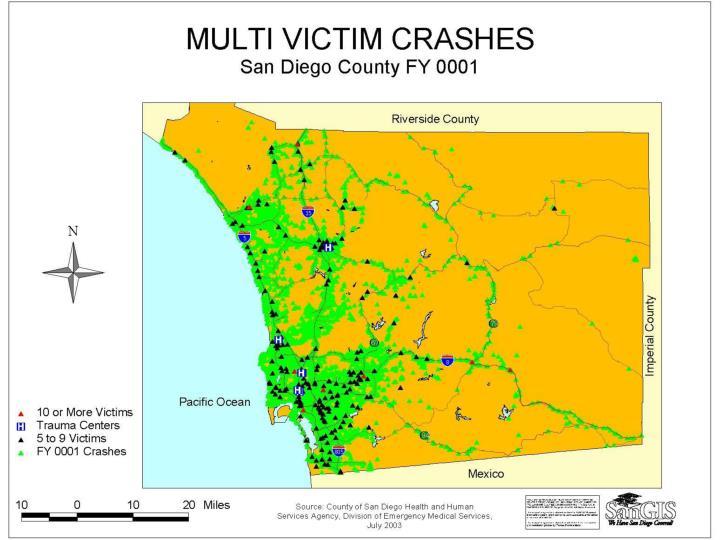 Map – Multi Victim Crashes