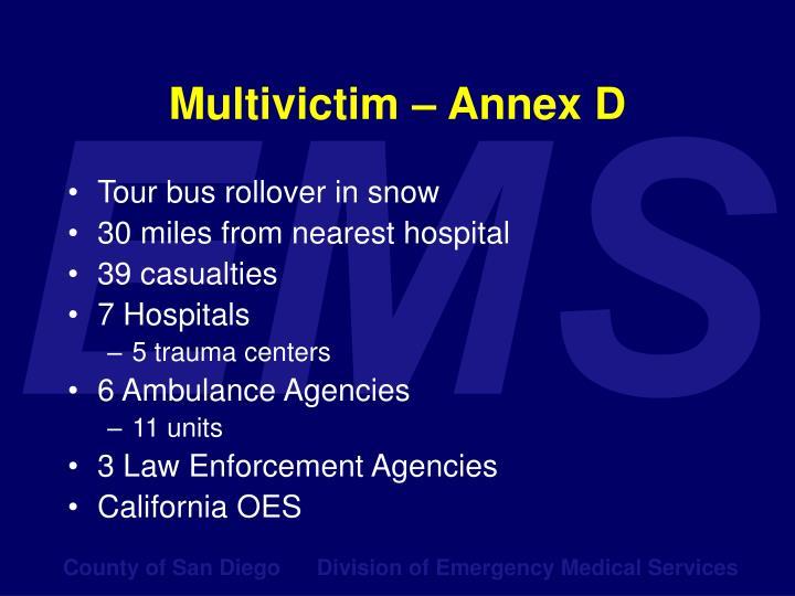Multivictim – Annex D