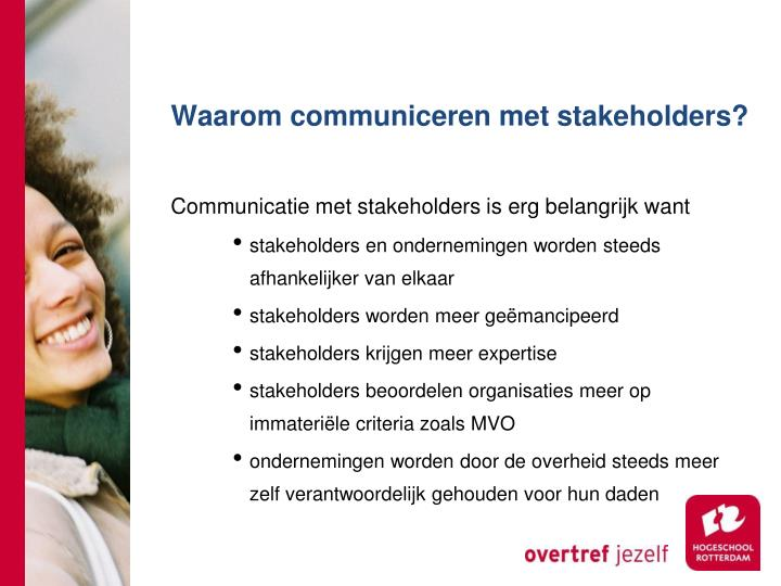 Waarom communiceren met stakeholders?