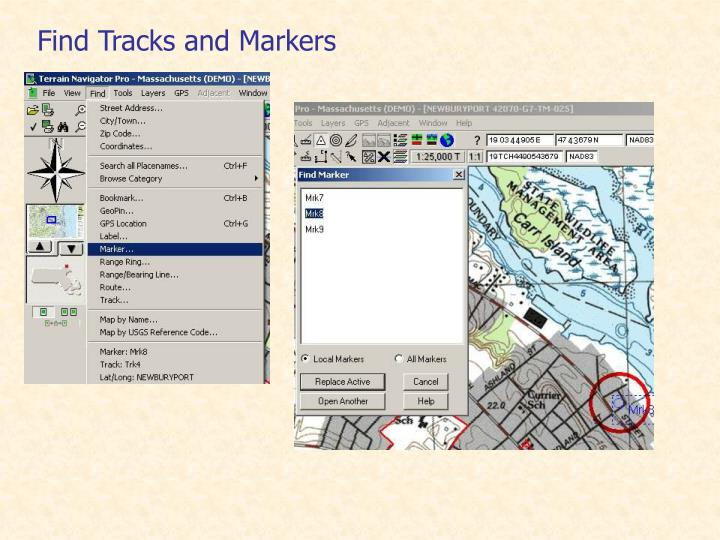 Find Tracks and Markers