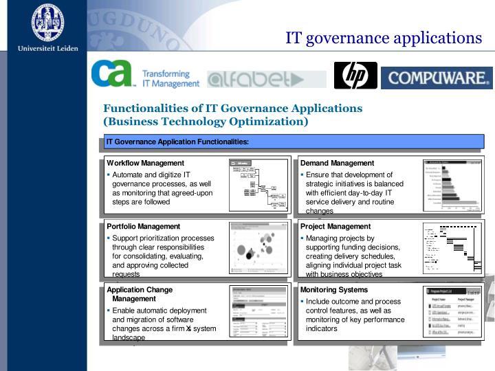 IT governance applications