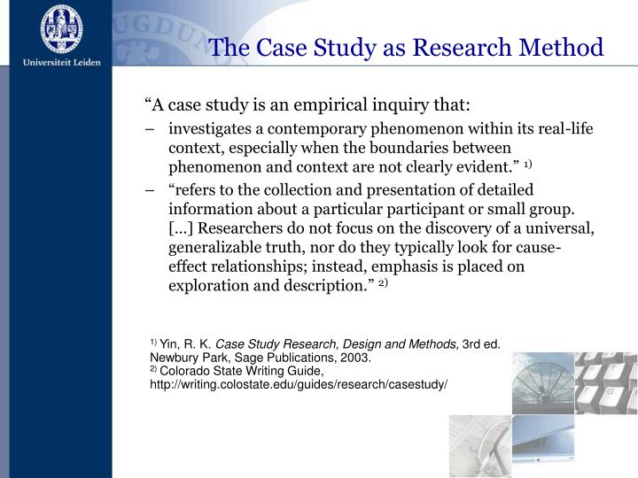 """""""A case study is an empirical inquiry that:"""