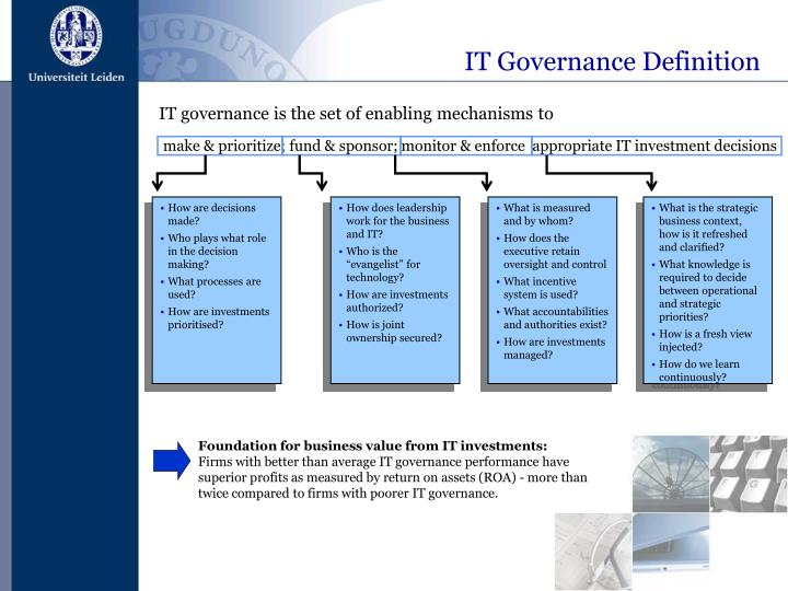IT Governance Definition