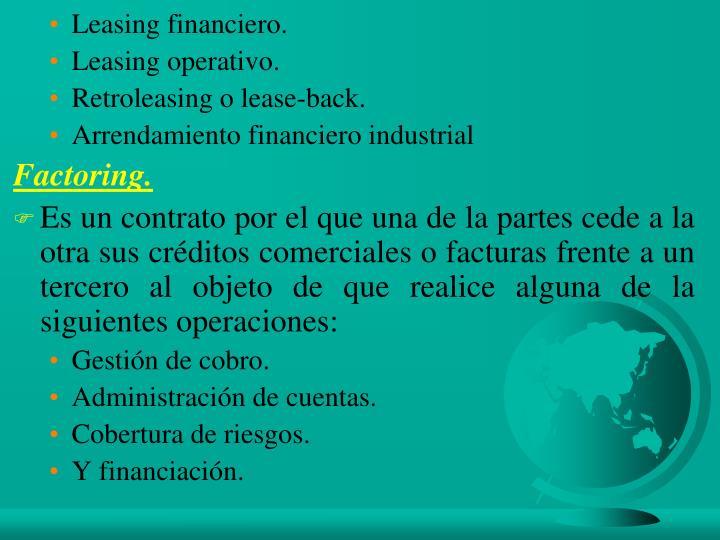 Leasing financiero.