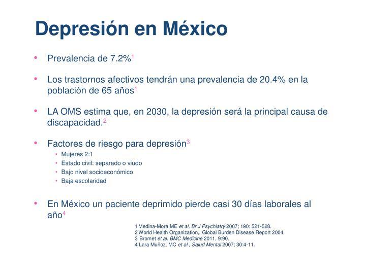 Depresión en México