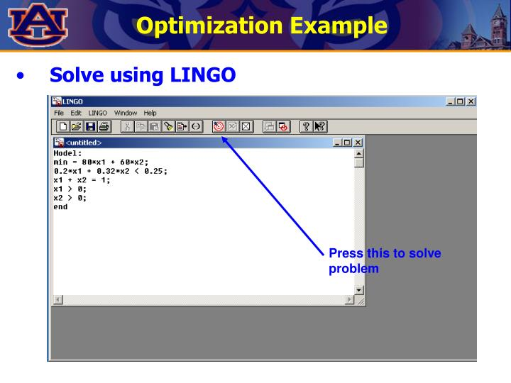 Optimization Example