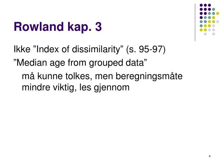 Rowland kap. 3