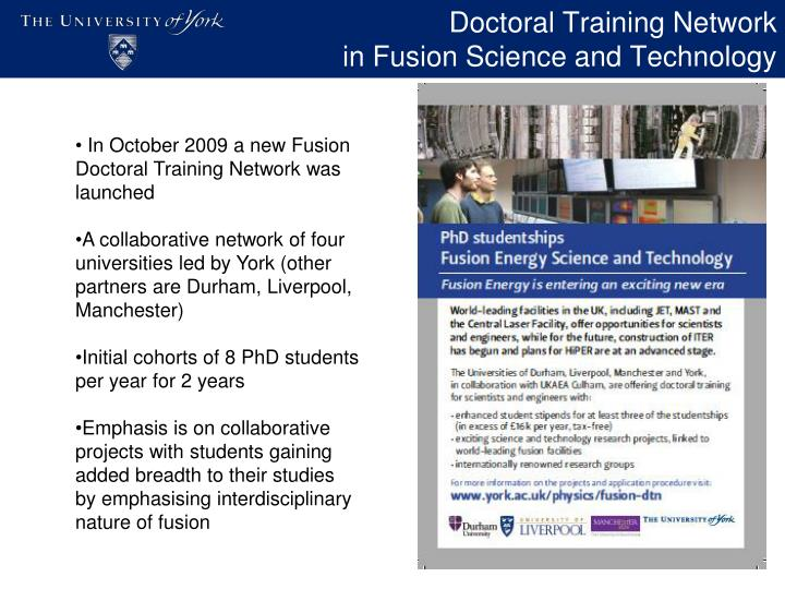 Doctoral Training Network
