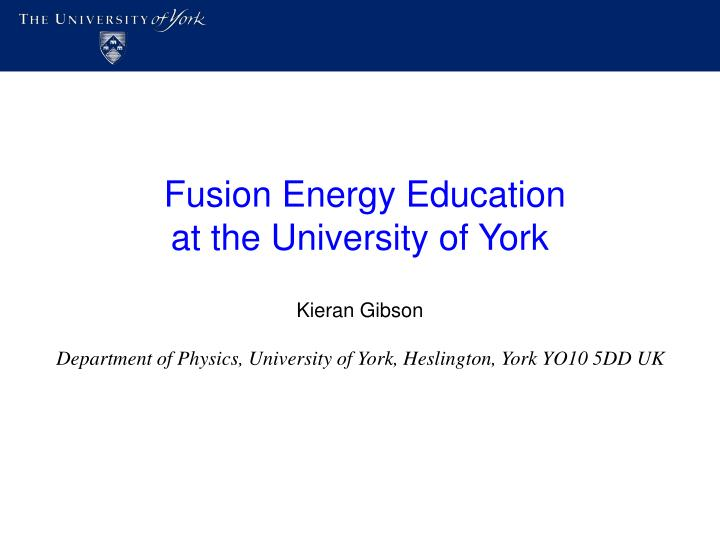 Fusion Energy Education