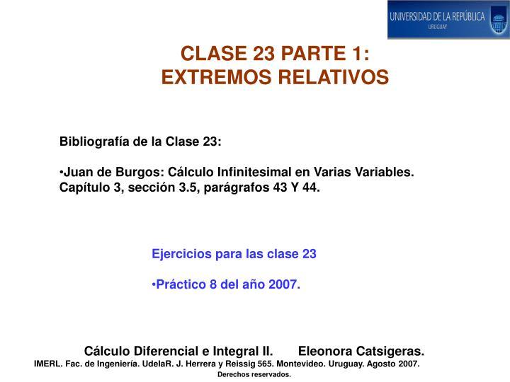 CLASE 23 PARTE 1: