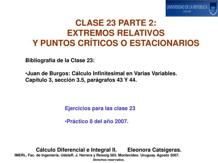 CLASE 23 PARTE 2: