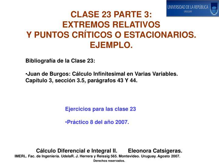 CLASE 23 PARTE 3: