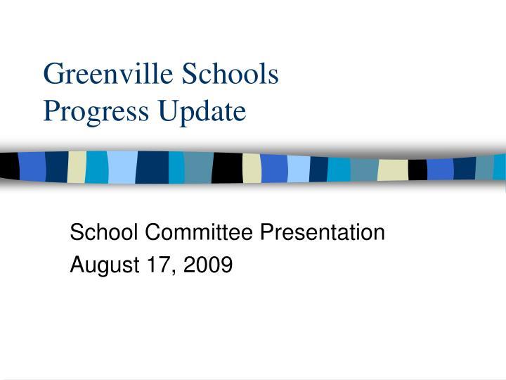 greenville schools progress update