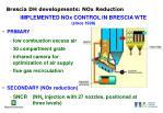 brescia dh developments nox reduction
