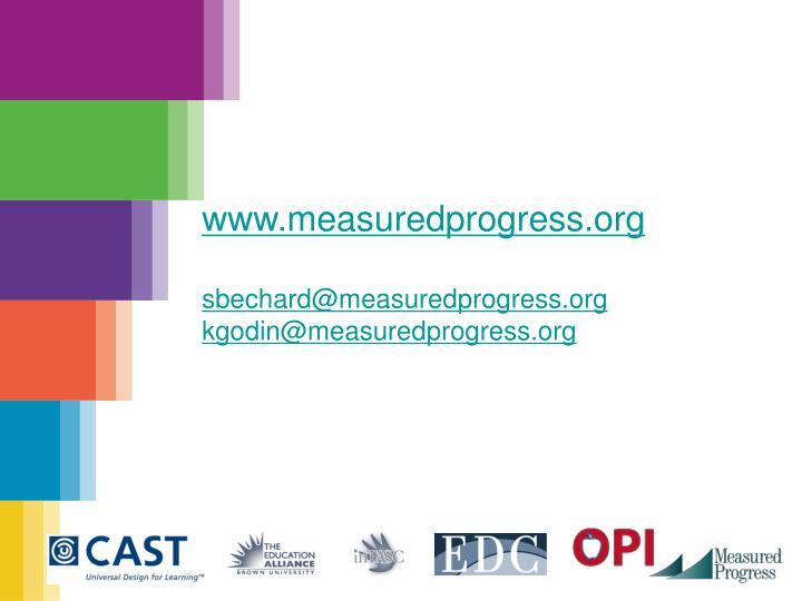 www.measuredprogress.org