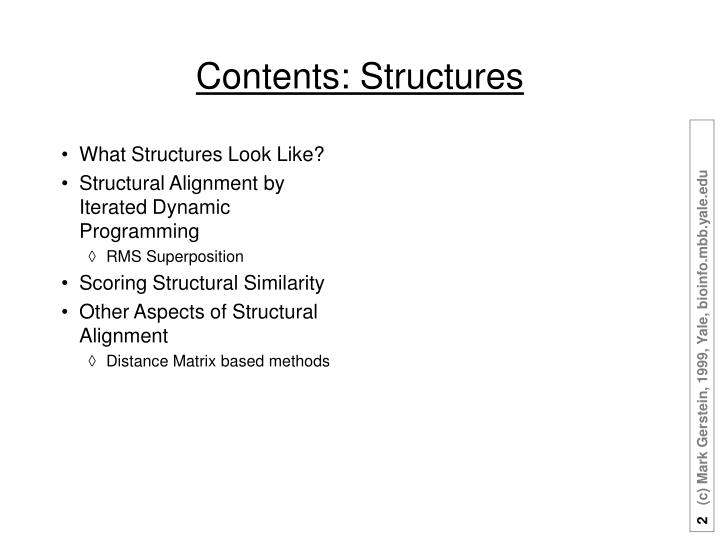 What Structures Look Like?