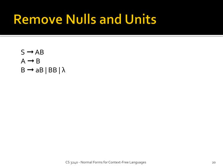Remove Nulls and Units