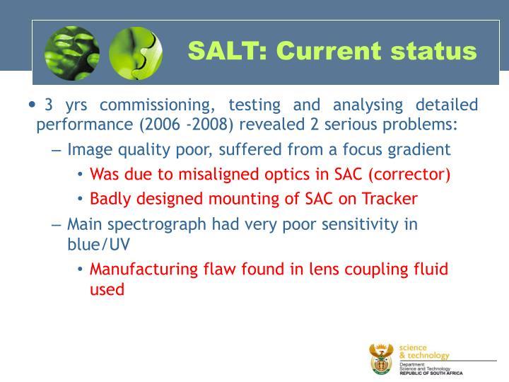SALT: Current status