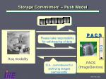 storage commitment push model