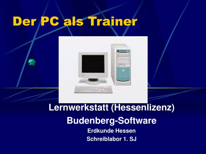 Der PC als Trainer