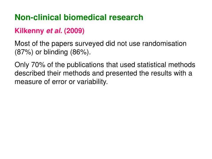 Non-clinical biomedical research