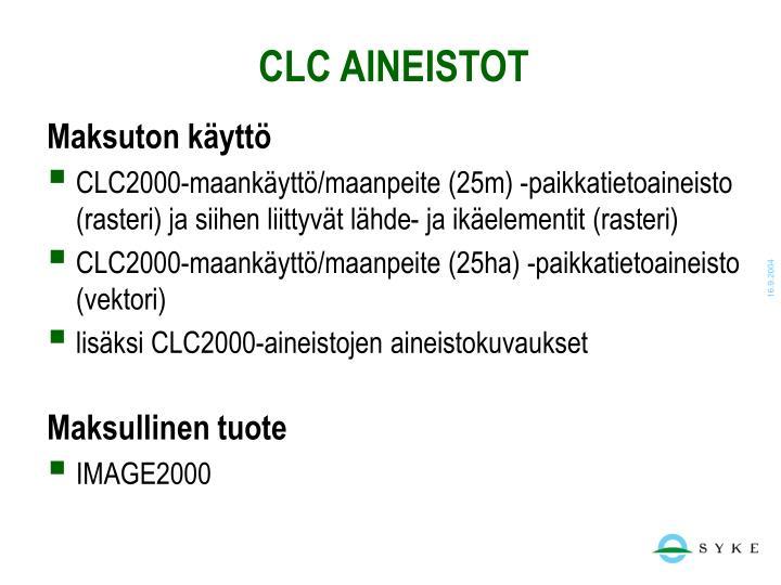 CLC AINEISTOT
