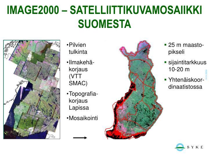 IMAGE2000 – SATELLIITTIKUVAMOSAIIKKI SUOMESTA
