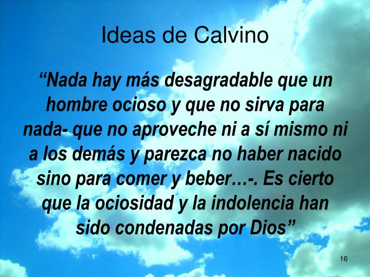 Ideas de Calvino