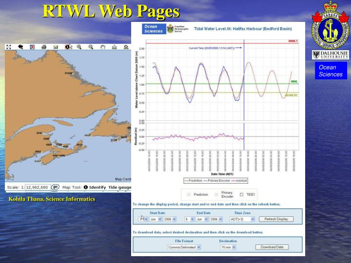 RTWL Web Pages