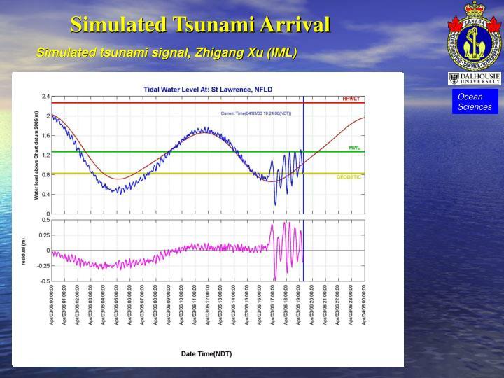 Simulated Tsunami Arrival