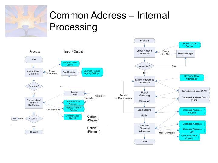 Common Address – Internal Processing