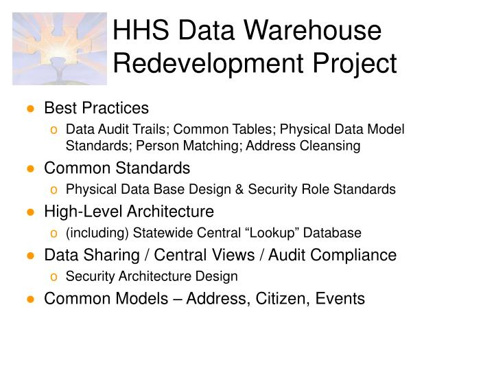 Hhs data warehouse redevelopment project