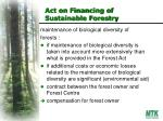 act on financing of sustainable forestry1
